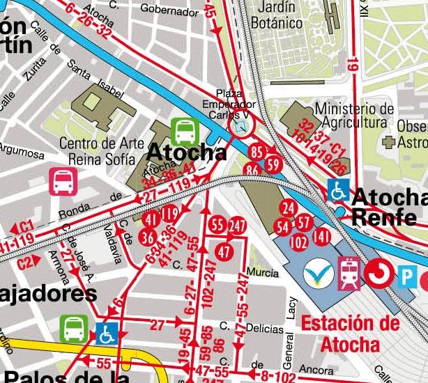 Mapa Lineas Emt Madrid.Viajar A Madrid Autobus En Madrid